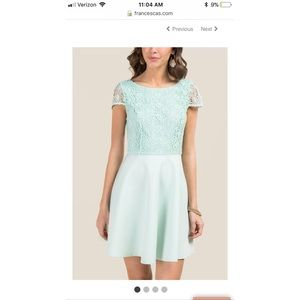 Francesca's mint blue dress